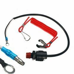 1 Outboard Cut Off Boat Emergency Kill Stop Switch W/safety Tether Lanyard Set