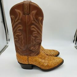 Tony Lama El Rey Vintage Cowboy Boots Mens 8d Anteater Exatic Skin Made In Usa