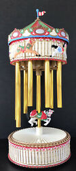 """Avon Christmas Chimes Mechanical Music Player Carousel Battery Operated 17"""""""