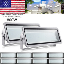 10x 800w Led Flood Light Cool White Superbright Waterproof Outdoor Security Work