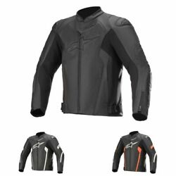 Alpinestars Faster V2 Airflow Mens Motorcycle Riders Full Sleeve Leather Jackets