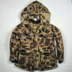Vintage 80 90 Browning Gore-tex Goretex Parka Jacket Duck Camo Waterfowl Hunting