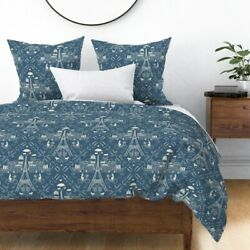 Bicycle Damask Paris Sateen Duvet Cover By Spoonflower