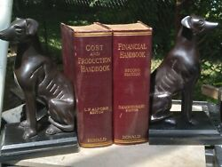 Vintage Art Deco Style Sitting Greyhound Or Whippet Dog Bookends Brown 9 Tall