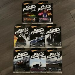 Hot Wheels Fast And The Furious 2018 Complete Set Supra S2000 Mustang Charger Srt8
