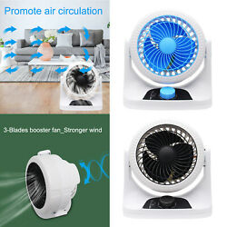 Portable Mini-sized Quiet Whole Room Air Circulator Fan For Home Outdoor