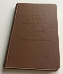 Vintage Dietzgen No. 403f Engineer Field Note Book 80 Pages 50 Rag Paper Usa