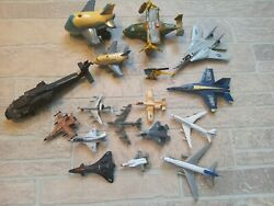 Vintage Toy Airplane Helicopter Military Lot Matchbox Ertl Toytech Metal Plastic