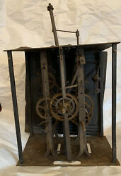 Antique French Comtoise Or Grandfather Clock Movement Brass Parts