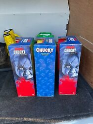 Chucky Doll Collection X3 Set Universal Edition And Bride Of Chucky Movie