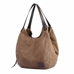 TCHH DayUp Hobo Purses for Women Canvas Tote Shoulder Bags Cotton Handbags $43.60