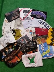 Lot Of 20 Vintage 90andrsquos Y2k T-shirts Lot Disney Nike Animal Tees Reseller Lot🔥