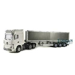 Hercules Benz Rc 1/14 Tractor Truck 40ft Metal Container Chassis Semi-trailer
