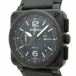 Bell And Ross Black Matte Chronograph Menand039s Automatic Black Dial Br0394-bl-ce