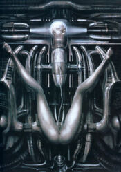 Extremely Rare Alien Hr Giger Deathbirth Machine Iii Le Of 100 Art Print Signed