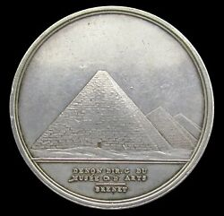 France 1798 Napoleon Egypt Conquest 33mm Silver Medal