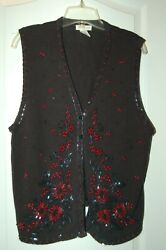 Christmas Holiday Vest Sweater Womanand039s X Large Yarnworks