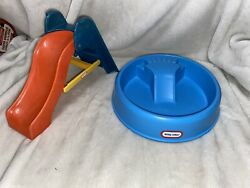 Vintage Little Tikes Dollhouse Furniture Swimming Pool Slide Doll House Size