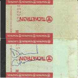 Vintage 1987 David Gilmour Pink Floyd A Momentary Lapse Of Reason Tour Autograph