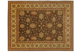 Afghan Chobi Ziegler Carpet Hand Knotted 250x320 Red Floral Pattern Wool
