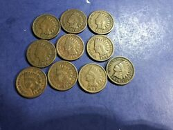 1890 1891 1892 1893 1894 1895 1896 1897 1898 1899 Indian Head Penny Cents