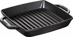 Staub 40511-728-0 Pure Grill Square Black 9.1 Inches 23 Cm Frying Pan With