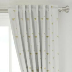 Designs Mod Gold Bows Christmas Bows Holiday 50 Wide Curtain Panel By Roostery