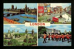 Coca Cola Coke Postcard Piccadilly Circus London Uk Multi View Advertising Sign