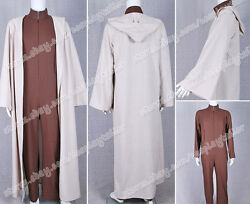 Star Wars Movie Yoda Cosplay Costume Brown Jumpsuit Cape High Quality Good Sell