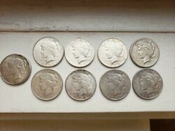 S Set Of 9 San Francisco S Mint Peace Dollars Complete 1922-1935 Best Offer