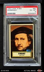 1952 Topps Look 'n See 82 Rembrandt Psa 6 - Ex/mt