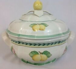Vintage Villeroy And Boch French Garden Fleurence Fruit Round Covered Tureen Bowl