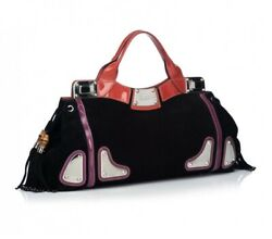 Authentic Bag Limited Eddition Race Indie Bamboo Tassel Suede Red Black