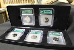 2003 S State Silver Quarter Proof 5 Coin Set Icg Pf 70