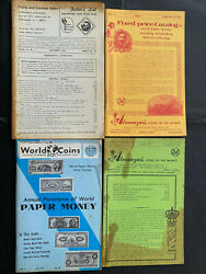 World Coin And Paper Money Catalogues 1960-70s Lot Of 4 Great Photo Plates