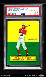 1964 Topps Stand Up Vada Pinson Reds Psa 6.5 - Ex/mt+