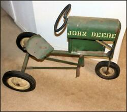 Antique Bmc 🕳 John Deere Pedal Tractor 🕳 Heart Wrapped Steering Wheel And Seat