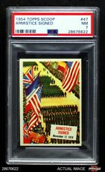1954 Topps Scoop 47 Armistice Signed Without Coating Psa 7 - Nm