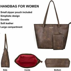 Montana West Large Leather Tote Bags for Women Cute Concealed Carry Shoulder Bag $91.79