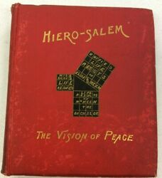 Hiero-salem The Vision Of Peace 1889 1st Edition Hardcover By E.l. Mason