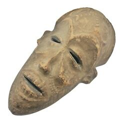 Antique African Tribal Ethnographic Wood Mask Carving - Circa 1850-1960's