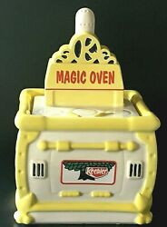 Keebler Magic Oven Cookie Jar Yellow White Vintage 1995 Good Condition