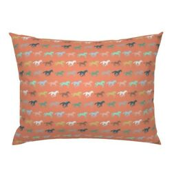 Horse Pony Equestrian Horseback Riding Cowgirl Coral Pillow Sham By Roostery