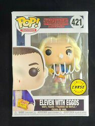Millie Bobby Brown Signed Autographed Stranger Things Eleven Funko Pop 421 W Coa