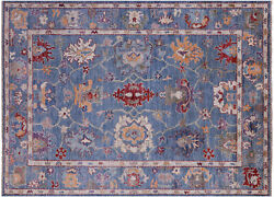 5and039 10 X 8and039 3 Turkish Oushak Hand Knotted Wool Rug - Q9789