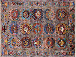 Hand-knotted Fine Turkmen Wool Rug 5and039 1 X 6and039 9 - Q9802