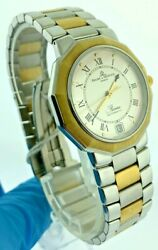 Baume And Mercier Riviera Automatic Geneve 18k Gold And Ss Men's Watch