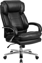 Flash Furniture Office Chair Black Leather Executive Desk Chair With Wheels