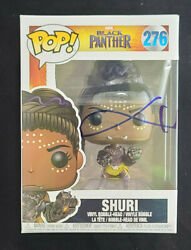 Letitia Wright Autographed Signed Shuri Black Panther Funko Pop 276 With Coa