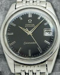 Omega Seamaster Date 166.010 Cadran Noir Cal.565 Automatic Vintage Montre 1970and039s